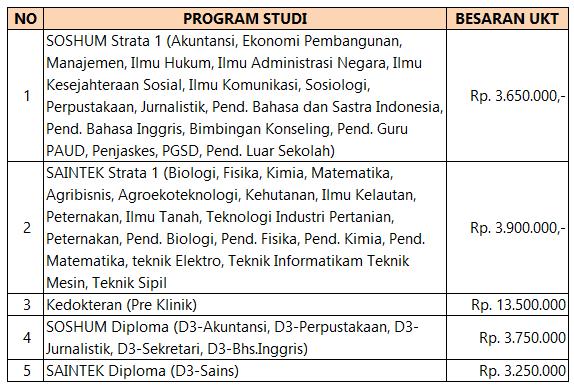 UKT Universitas Bengkulu