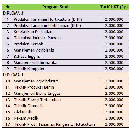 Biaya Kuliah Polije Jember
